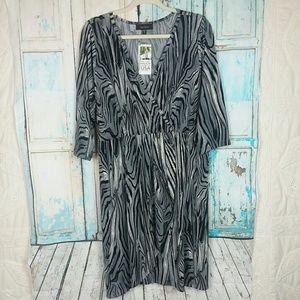 Karen Kane wrap pleated dress